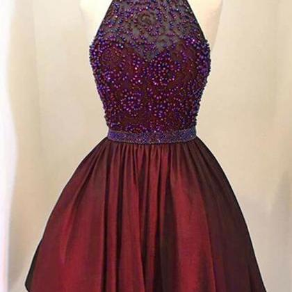 Beaded Prom Dresses, Elegant Prom D..