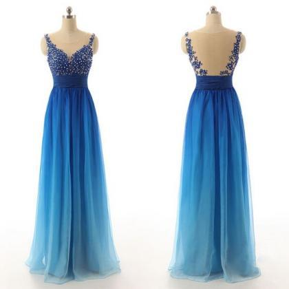 Bg55 See Though Prom Dress,Charming..