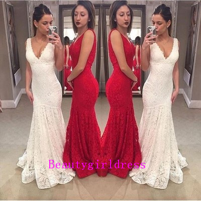 Bg158 V Neck Prom Dress,Lace Prom D..