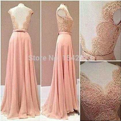 Custom Made Lace Rude Style Prom Dr..