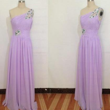Charming Prom Dress,One Shoulder Ch..