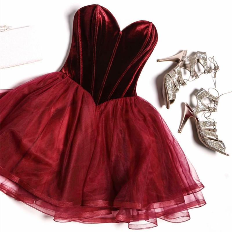 Charming Prom Dress,Sexy Prom Dress,Tulle Evening Dress,Sleeveless Party Dress,Burgundy Homecoming Dress