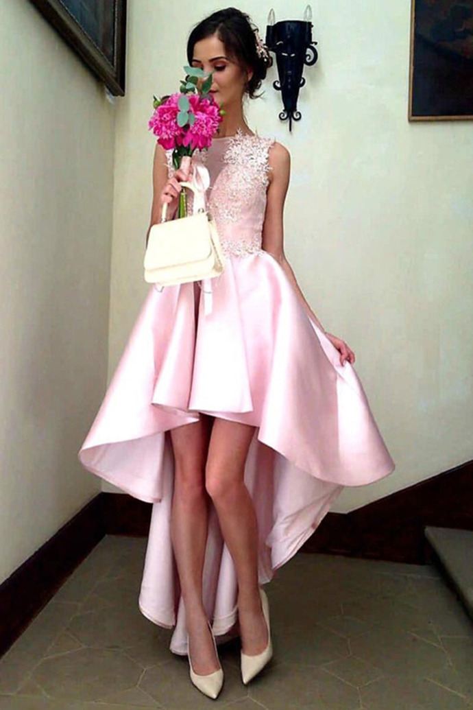 Charming Prom Dress, Sexy Prom Dress, High Low Homecoming Dress, Elegant Graduation Dress