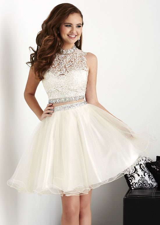 d39916734c3 Bg762 Tulle Prom Dress Two Piece Prom Gown White Party Dress Graduation  Dress for Prom
