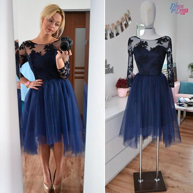 2bd3e156d603 Charming Tulle Prom Dress,Long Sleeve Prom Dress,Short Prom Dresses ...
