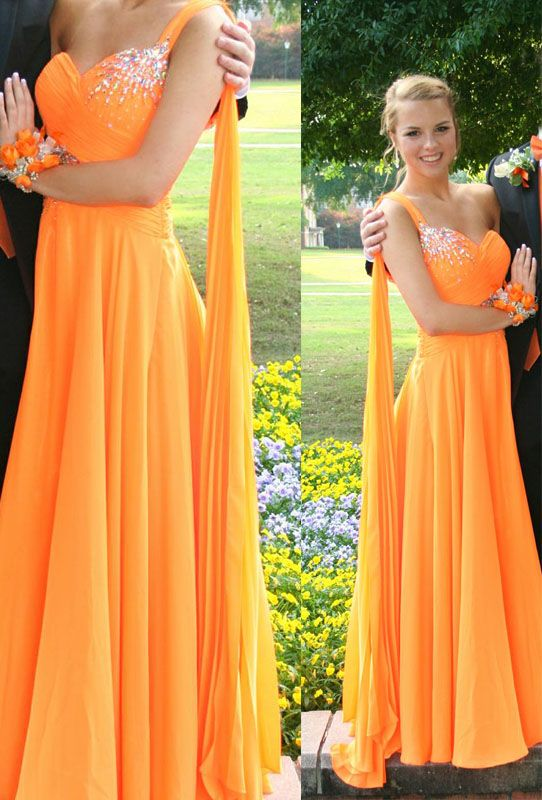 2b8873fd3db8 Charming Prom Dress,Sweetheart Prom Gown,Chiffon Orange Evening Formal Dress,Women  Dress