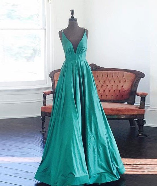 Real Photos Prom Dress, Backless Prom Dresses, Sexy Prom Dresses, V Neck Prom Dresses, Long Evening Dress, Formal Gown