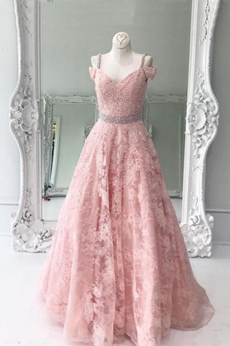 Charming Evening Dress,Lace Evening Dresses,Sexy Prom Dress,Spaghetti Straps Prom Dresses,Long Homecoming Dress