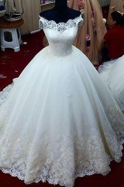 Charming Wedding Dress,Elegant Tulle Ball Wedding Dress,Romantic Wedding Gown