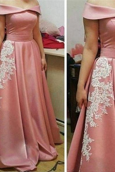 Charming Prom Dress, Elegant Prom Dresses, Appliques Prom Dresses, Long Evening Dress, Formal Dress