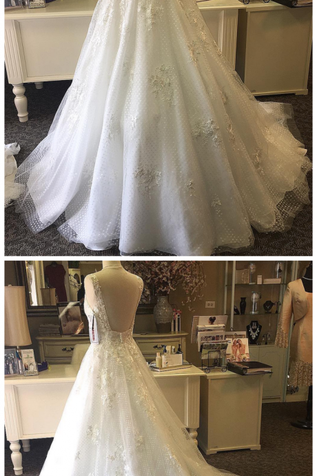 High Quality Real Photos Nice Appliques Wedding Dress