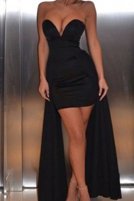 New Arrival Black Evening Dress, Sexy A Line Prom Dress, Party Dress CF243