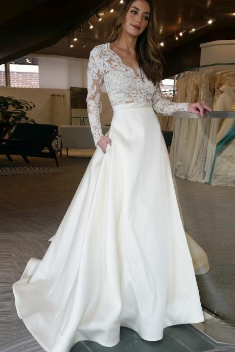 Charming Prom Dress, Long Sleeve Prom Dresses with Appliques, Formal Evening Dress CF381