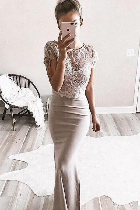 Charming Prom Dress, Sexy Appliques Mermaid Prom Dresses, Long Evening Dress, Formal Gown CF546