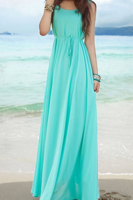 Charming Prom Dress, Sexy Beach Prom Dresses, Simple Long Party Dress, Evening Dress CF552