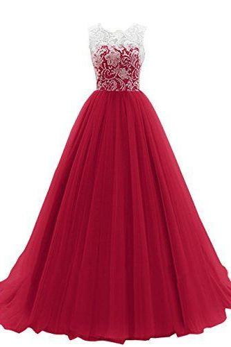 Charming Prom Dress, Elegant Tulle Lace Prom Dresses, Long Evening Dress, Formal Dress CF674