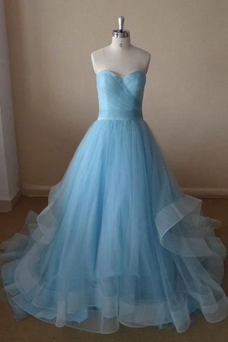 Charming Evening Dress, Long Prom Dresses, Tulle Prom Dress CF1177