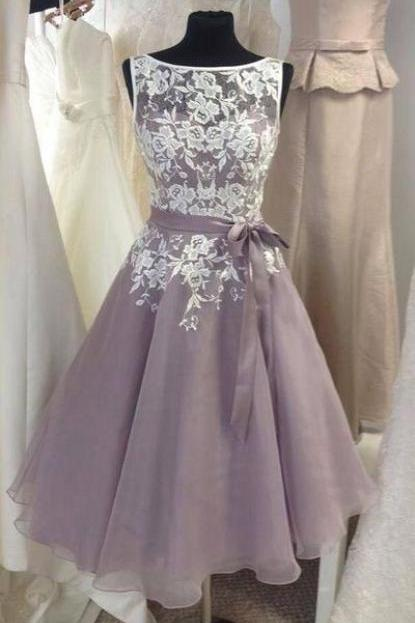 Prom Dress Appliques Homecoming Dress, Elegant Graduation Dress CF1212