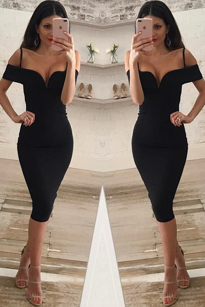 Sexy Black Prom Dress Evening Party Dress CF1264