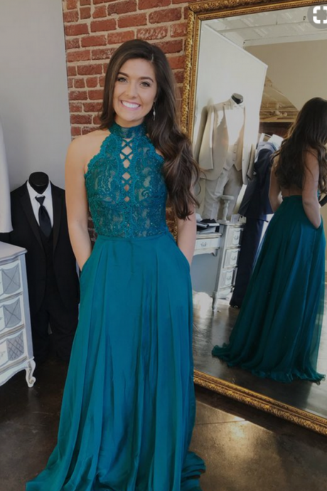 Charming Appliques Prom Dress, Sleeveless Prom Dresses, Long Evening Dress CF1382