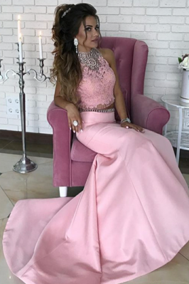 Sexy Sleeveless Prom Dress, Appliques MermaidProm Dresses, Long Evening Dress