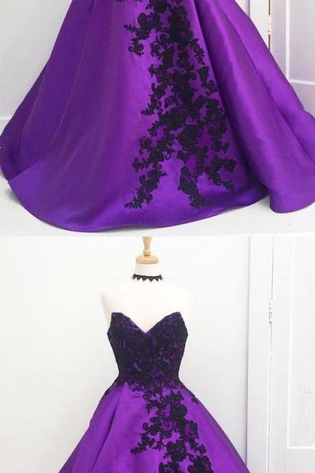 Charming Prom Dress, Elegant Appliques Prom Dresses, Ball Gown Sweet 16 Dress for Teens