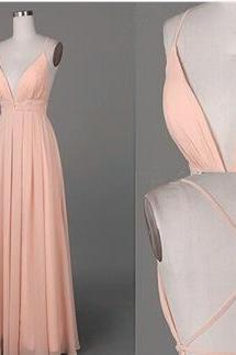 Bg157 Deep V Neck Prom Dress,Sexy Prom Dress,Charming Prom Dress,Chiffon Prom Dress,Orange Prom Dresses,Backless Prom Dresses,Long Evening Dress,Prom Dress 2016