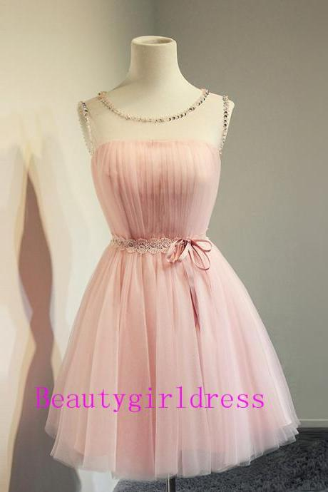 Bg186 Charming Prom Dress,Cute Prom Dress,Tulle Homecoming Dress,Pink Homecoming Dresses,Short Homecoming Dress,Graduation Dress for Teens