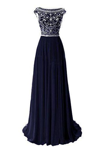 Bg435 Charming Prom Dress,Chiffon Prom Dresses,Long Prom Dresses,Beading Prom Dress