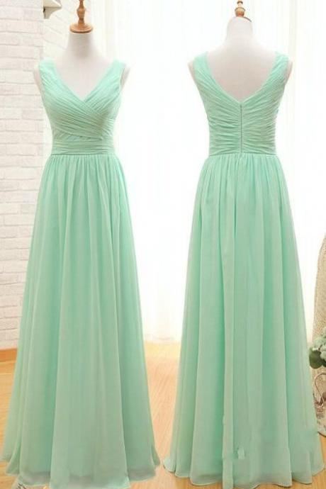 Bg883 Green Prom Dress,Fashion Prom Dresses,Floor Length Prom Dress,Chiffon Prom Dress
