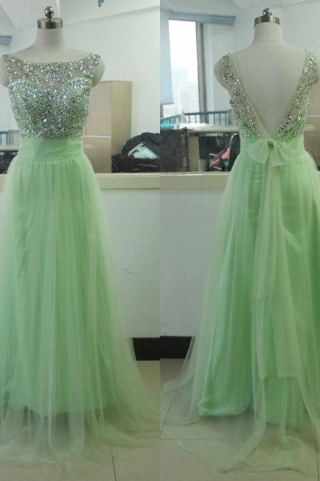 Prom Dress,Green Prom Dress,Long Prom Dress for Teens