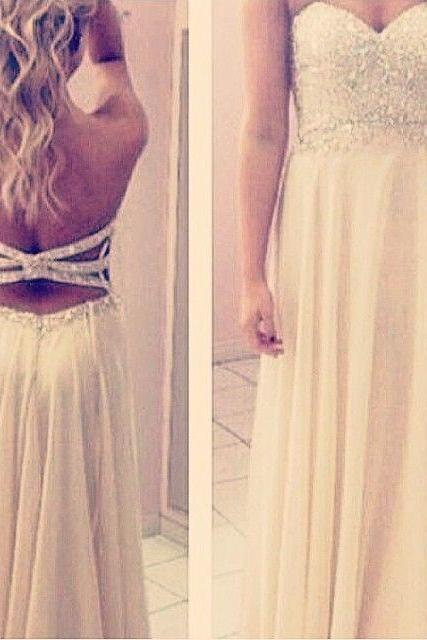 Bg1006 Backless Prom Dress,Chiffon Prom Dresses,Beaded Prom Gown,Long Evening Dress,Evening Gown