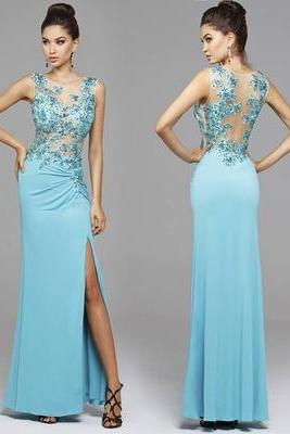 Bg1039 See Though Prom Dress,Prom Dresses with Slit,Long Evening Dress,Formal Dress