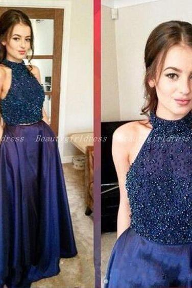 Bg1036 High Quality Prom Dress,Halter Prom Dress,Beading Prom Dresses,Backless Prom Dress,Long Evening Dress,Formal Dress