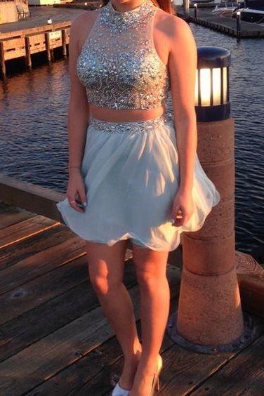 Bg1047 High Quality Prom Dress,Two Piece Prom Dress,Short Homecoming Dress
