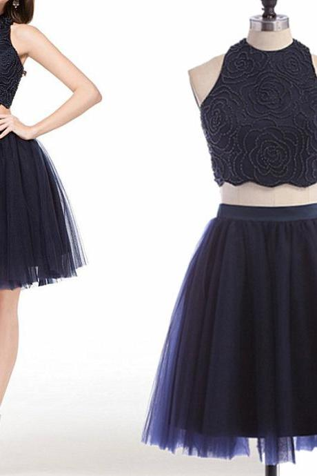 Bg1166 Charming Homecoming Dress,Tulle Homecoming Dress,Two Piece Homecoming Dresses,Short Prom Dress
