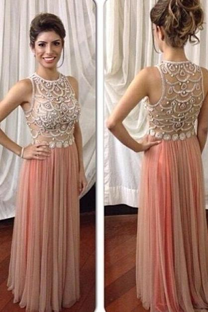 Bg1237 Long Prom Dress,Beading Chiffon Prom Dress,Elegant Evening Dress,Evening Gown,Formal Dress