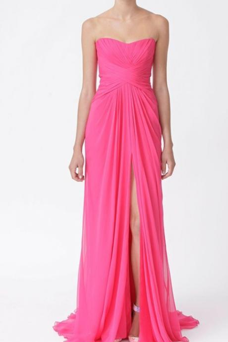 Bg1306 Charming Prom Dress,Chiffon Prom Dress,Long Prom Dresses with Slit,Sexy Prom Dress