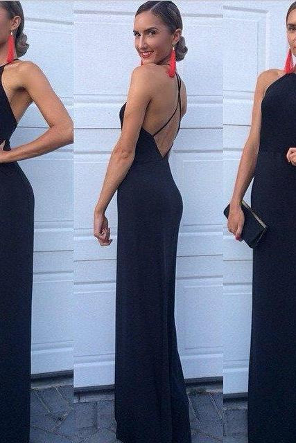 Charming Prom Dress,Chiffon Prom Dress,Long Prom Dress,Sexy Backless Prom Dress,Women Dress