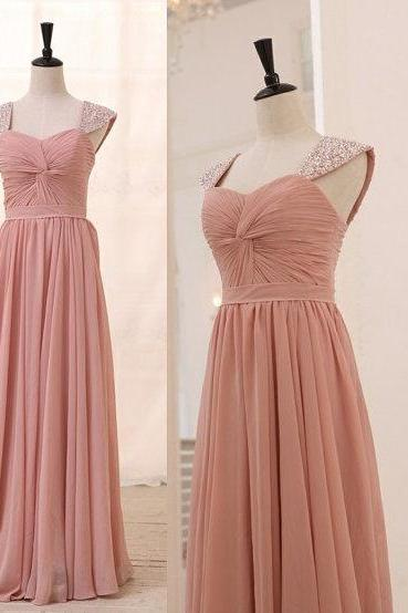 Charming Prom Dress,Chiffon Prom Dress,Cap Sleeve Prom Dress,Long Prom Dresses,Evening Gown,Formal Dress