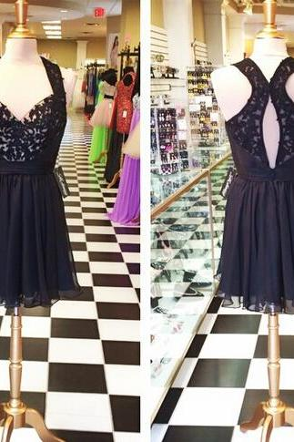 Black Homecoming Dress,Halter Homecoming Dresses,Sexy Homecoming Dress,Short Prom Dress