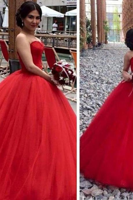 Charming Prom Dress,Red Ball Gown Prom Dress,Sexy Prom Dress,Tulle Prom Dress,Long Prom Dress,Evening Dress,Wedding Dress,Wedding Gown