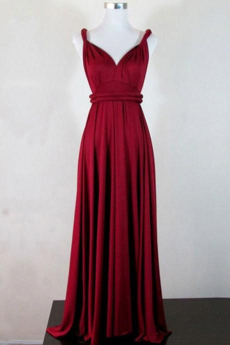 Simple V Neck Prom Dress,Sleeveless Evening Dress