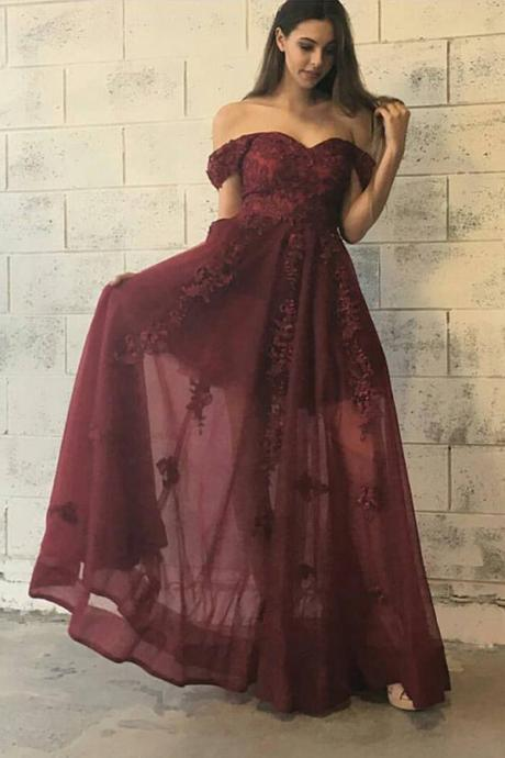 Sexy Off-the-Shoulder Prom Dress, Sleeveless Prom Dress, Long Prom Dress, Gorgeous Formal Evening Dress