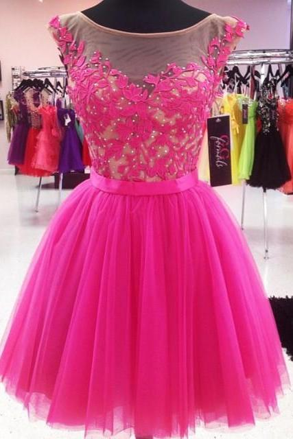 Short Prom Dress, 2017 Prom Dress, Tulle Prom Dress, Gorgeous Homecoming Dress, Graduation Dress, Prom Party Dress