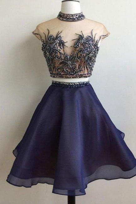 Elegant Prom Dress,Sexy Prom Dress,Cute Prom Gown, Party Dress,Prom Party Gown,Two Piece Prom Dress