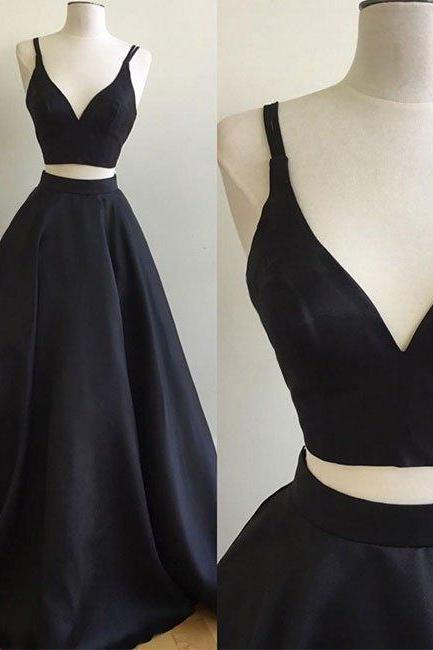 Charming Prom Dress,Two Piece Prom Dresses,Sexy Prom Dress,2017 Prom Dresses,2 Piece Prom Gown