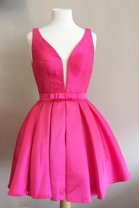 Charming Prom Dress,Cute Prom Gown,Sleeveless Prom Party Dress,Party Gown,Mini Prom Dresses