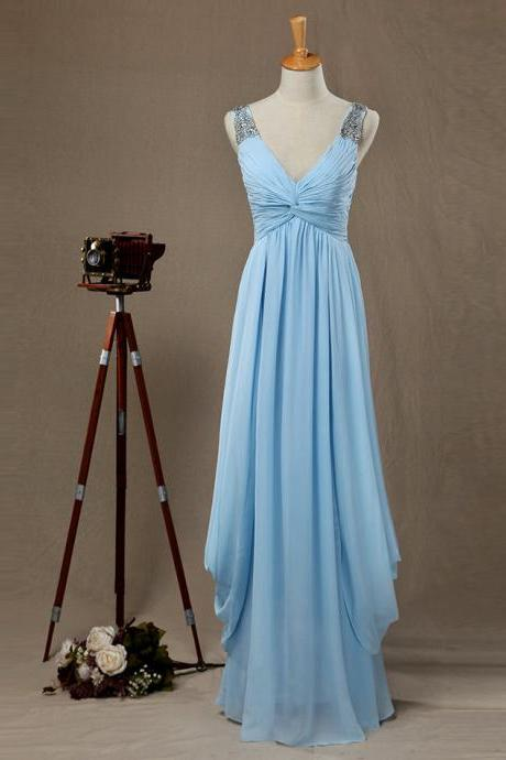 Charming Prom Dress,Sleeveless Chiffon Prom Dresses,Elegant Prom Dress,Floor Length Evening Dresses,Formal Gown