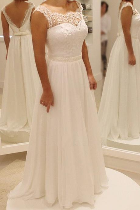 Charming Prom Dress,Long Prom Dresses,Sexy Prom Dress,White Pearls Beaded Prom Dress,Prom Dresses 2017